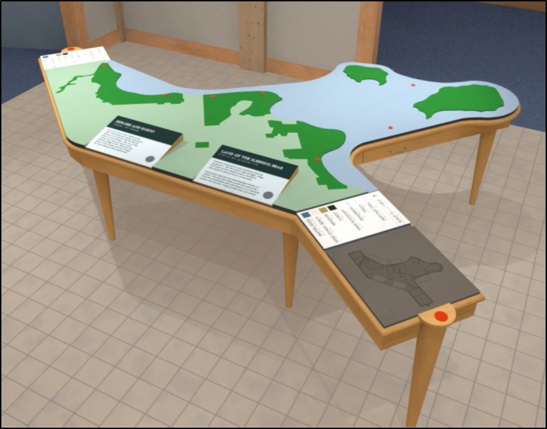 Drawing of tactile orientation map for Visitor Center