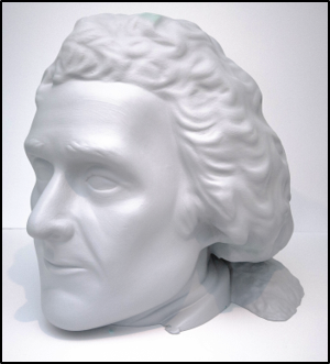 Tactile model of Jefferson's head