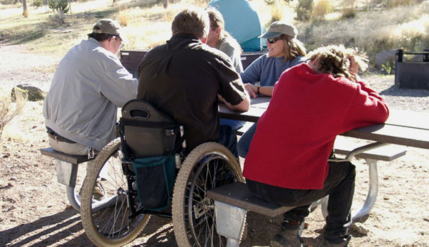 Accessible picnic units can provide opportunities for socializing with friends and make people feel more included.
